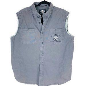 Harley-Davidson Sleeveless Button Up Sz XL